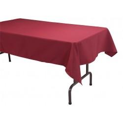 Phoenix Textile Industries - TO5296-BG - 96 x 52 Rectangle Visa Tablecloth, Burgundy; PK1
