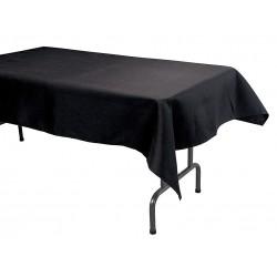 Phoenix Textile Industries - TO5296-BK - 96 x 52 Rectangle Visa Tablecloth, Black; PK1