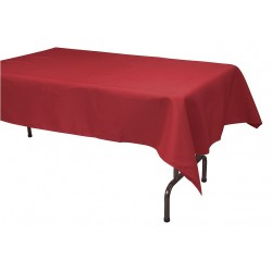 Phoenix Textile Industries - TO5296-RD - 96 x 52 Rectangle Visa Tablecloth, Red; PK1