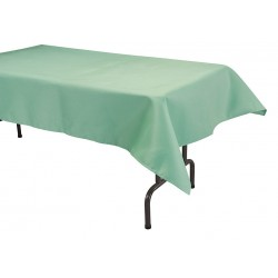 Phoenix Textile Industries - TO5296-SEAFOAMGR - 96 x 52 Rectangle Visa Tablecloth, Seafoam Green; PK1