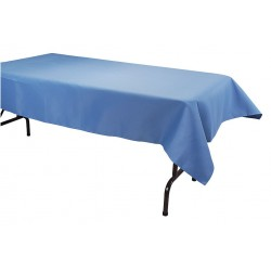 Phoenix Textile Industries - TO5296-WBL - 96 x 52 Rectangle Visa Tablecloth, Wedgewood Blue; PK1