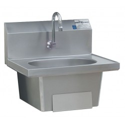 Eagle Group - HSA-10-FKP - Stainless Steel Hand Sink, With Faucet, Wall Mounting Type, Silver