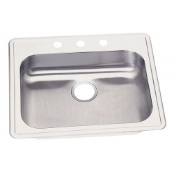 Elkay - GE125213 - 25 x 21-1/4 x 5-3/8 Drop-In Sink with Faucet Ledge with 21 x 15-3/4 Bowl Size