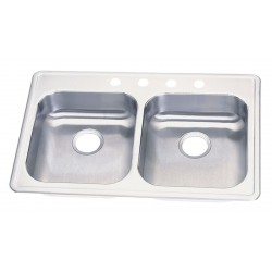 Elkay - GE233214 - 33 x 21-1/4 x 5-5/8 Drop-In Sink with 14 x 15-3/4 Bowl Size