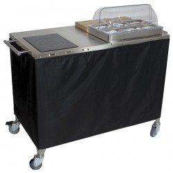 Cadco - CBC-PHR - Chef Cart, Mobile, w/ Range and Warmer