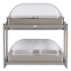 Cadco - CMLB-24RT - Buffet Server, w/Rolltop Lids, Multi-Level