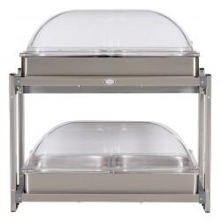 Cadco - CMLB-24RT - Buffet Server, w/Rolltop Lids, Multi-Level