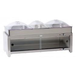 Cadco - CMLB-CSLP - Buffet Server, w/ Warming Cabinet, 3 Pans