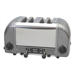 Cadco - CBF-4M - 15-1/2 x 8 x 9 4-Slot Consistent Slice Buffet Toaster, Gray