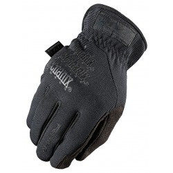 MechanixWear - MFF-F55-010 - Mechanix Wear Large Black FastFit Full Finger Synthetic Leather And Spandex Mechanics Gloves With Elastic Cuff, Spandex Top, Reinforced Thumb And Index Finger
