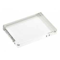 TableCraft - ACH46 - Card Holder, Rectangle, Clear Acrylic, 1 EA