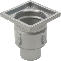 Blucher - BFD-324 - 304 Stainless Steel Floor Drain With 8 Square Top