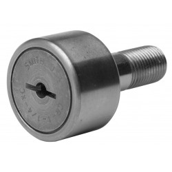 ABC (Accurate Bushing Company) - CR-1-1/4-XC - 1.2500 Roller Dia. Crowned Stud Cam Follower;Screwdriver Slot Face Design
