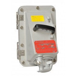 Appleton Electric - DBR6034DS - Receptacle with Disconnect Switch, 600VAC Voltage, 60 Amps, Number of Poles: 4, Number of Wires: 3