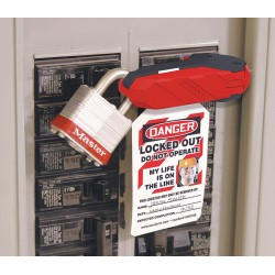 Accuform Signs - KDD160 - Accuform Signs Red And Black 3 1/3 X 15/16 Plastic Single Pole Circuit Breaker Lockout, ( Each )