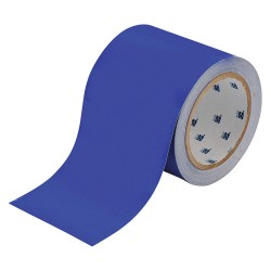 "Brady - 104374 - Brady 4"" X 100' Blue 0.008"" B-514 Polyester ToughStripe Floor Marking Tape"