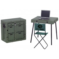 Pelican - 472-ADMIN-DESK - Olive Drab Green Admin Desk, 30-3/4 Overall Length, 21 Overall Width, 28-1/2 Overall Depth