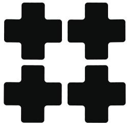 """Brady - 104470 - Floor Marking Tape, Solid, Cross, 2"""" x 5"""", 20 PK"""