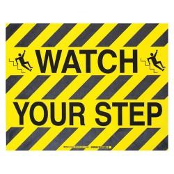 "Brady - 104499 - Floor Marking Sign, Message, Rectangle, 14"" Width, 1 EA"