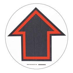Brady - 104489 - Floor Marking Sign, Solid, Circle, 1 EA