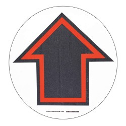 Brady - 104489 - Floor Marking Sign, Solid, Circle, 2 Width, 1 EA