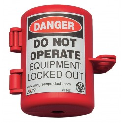 Zing Enterprises - 7105 - Plug Lockout, Polyethylene, 1/2 Max. Cord Dia.