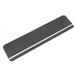 "Jessup - 3100-6X24-PL - 24"" x 6"" Silicone Carbide Antislip Tread, Black/Photoluminescent Stripe"