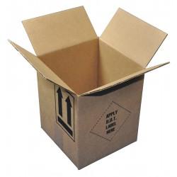 Polar Tech - HAZ1017KD - 4G - Brown Paint Can Shipper Kit, 9-5/16D x 8-1/2W x 17 L , Holds :(2) 1 gal. Can