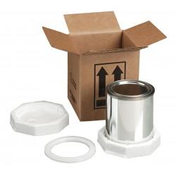 Polar Tech - HAZ1037 - 4G - Brown Paint Can Shipper Kit, 6-3/8D x 5-3/8W x 10-3/4 L , Holds :(2) 1 qt. Cans