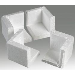 Polar Tech - 904 - Corner Protectors, 1-1/2 In, White, PK128