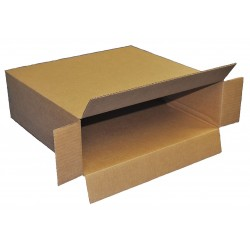 Polar Tech - 741KD - White/Brown/Black Wine Bottle Shipper Carton, 15-15/16D x 5-3/8W x 5-3/8 L , Holds :1 Bottle