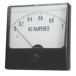 Other - 12G368 - Analog Panel Meter, AC Current, 0-1 AC A