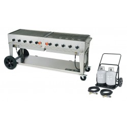 Crown Verity - MCC-72 - 159000 BtuH Stainless Steel Gas Grill with Two 50-lb. Propane Tanks