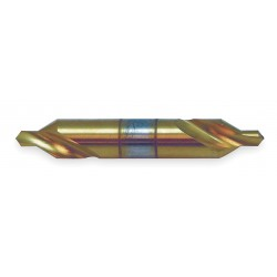 KEO Cutters / TSPC - 22060-TIN - High Speed Steel Double End Drill/Countersink, Right Hand Cutting Direction, Spiral Flute Type
