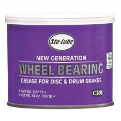 CRC - SL3111 - New Generation Amber Lithium Complex Wheel Bearing Grease, 14 oz., NLGI Grade: 2