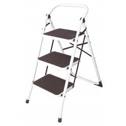 Other - 12M627 - Steel Folding Step, 36 Overall Height, 300 lb. Load Capacity, Number of Steps: 3