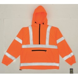 Utility Pro Wear - UHV658O-M - Packable Pullover, Hi-Vis, Med, Orange