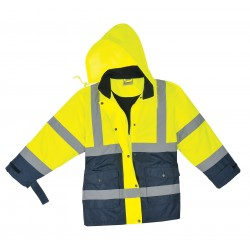 Utility Pro Wear - UHV664-S - Ladies Jacket, Hi-Vis, Small, Ylw/Nvy