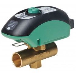 Taco - V050C2G2ZB024Q4A1 - Two Way, Normally Open, Geothermal System Sweat 1/2 Motorized Zone Valve, 24VAC, 4.9Cv, 2-Pin Screw