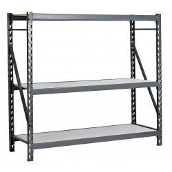 Edsal - ERL482496S - 48W x 24D x 96H 14 ga. Steel Bulk Storage Rack Starter Unit, Gray; Number of Shelves: 3
