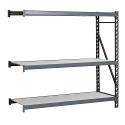 Edsal - ERL484896A - 48W x 48D x 96H 14 ga. Steel Bulk Storage Rack Add-On Unit, Gray; Number of Shelves: 3
