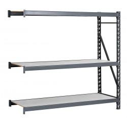 Edsal - ERL4848120A - 48W x 48D x 120H 14 ga. Steel Bulk Storage Rack Add-On Unit, Gray; Number of Shelves: 3