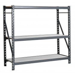 Edsal - ERL602472S - 60W x 24D x 72H 14 ga. Steel Bulk Storage Rack Starter Unit, Gray; Number of Shelves: 3