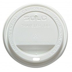 Solo Cup - 160007 - Solo Traveler Hot Cup Dome Drink Lid - Dome - Polystyrene - 300 / Carton - White