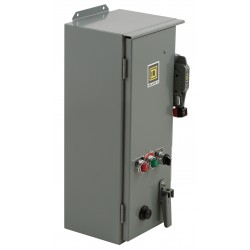 Square D - 8538SCA23V02CH20P51P52SX22Y74 - NEMA Fusible Combination Starter, 600VAC Max. Motor Voltage, 27 Amps AC, 120VAC Coil Volts