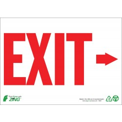 Zing Enterprises - 1081A - Exit and Entrance, Aluminum, 7 x 10, With Mounting Holes