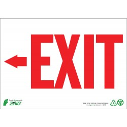 Zing Enterprises - 1082A - Exit and Entrance, Aluminum, 7 x 10, With Mounting Holes