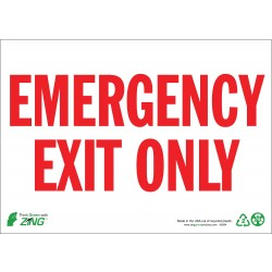 Zing Enterprises - 1084A - Exit and Entrance, Aluminum, 7 x 10, With Mounting Holes
