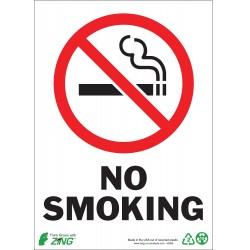 Zing Enterprises - 1085A - No Smoking, Aluminum, 7 x 10, Surface