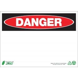 Zing Enterprises - 1088A - Blank, Danger, Aluminum, 7 x 10, Surface
